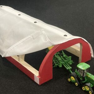 Handmade Toy Hoop Shed/Building 1/64th scale Farm Building