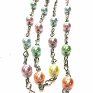 Handmade pastel pearl glass necklace