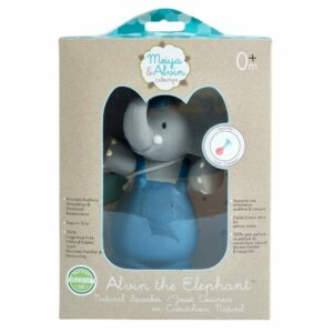 Alvin the Elephant Natural Rubber Squeaky