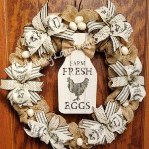 Farm Fresh Eggs Wreath