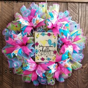 Hello Spring Bright Colors Wreath