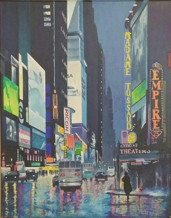New York, NY fabric hologram art by Don Dixson