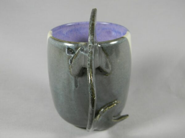 Hand Crafted Mug with Shark Handle