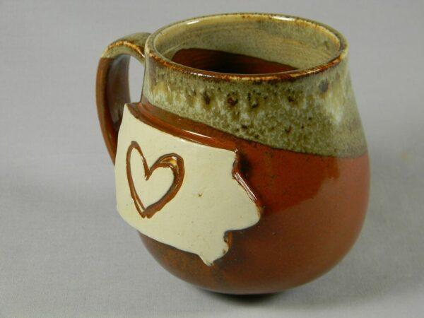 I Love Iowa Hand Crafted Ceramic Mug