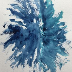 Dance in Blue – Watercolor Abstract Painting