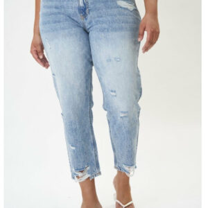 Plus Size Mid Rise Straight Leg Kancan
