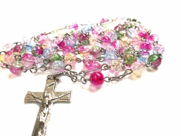 handmade colorful acrylic rosary