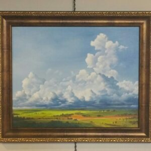 Iowa Thunderstorm oil painting by Cris Sell