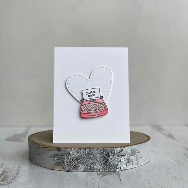 Typewriter Handmade Greeting Card