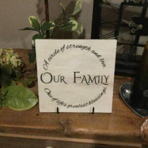 Our Family Circle Corian Tile