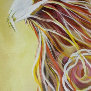 Phoenix acrylic painting by Deb Weiser