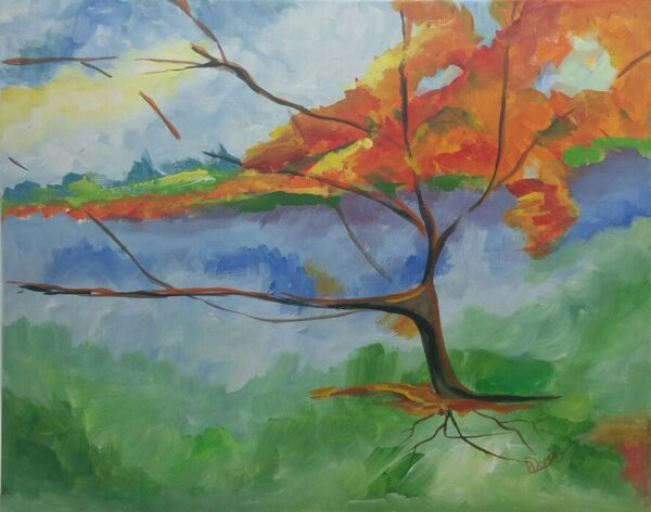 Through the Haze acrylic painting by Deb Weiser
