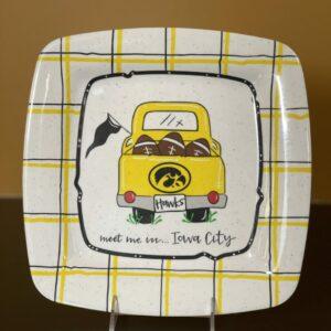 Iowa Hawkeye Serving Platter