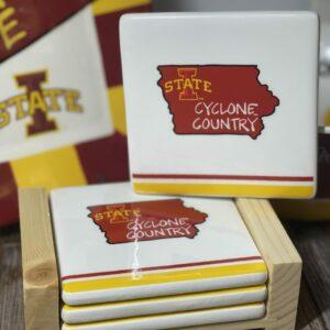 Iowa State Coaster Set