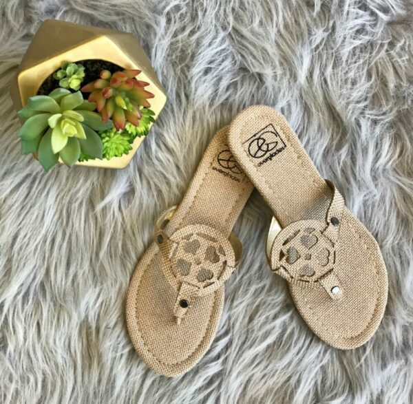 Lulu Sandals-Natural Canvas