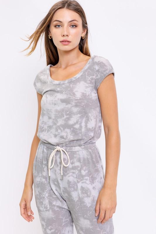 Grey Tie Dye Jumpsuit