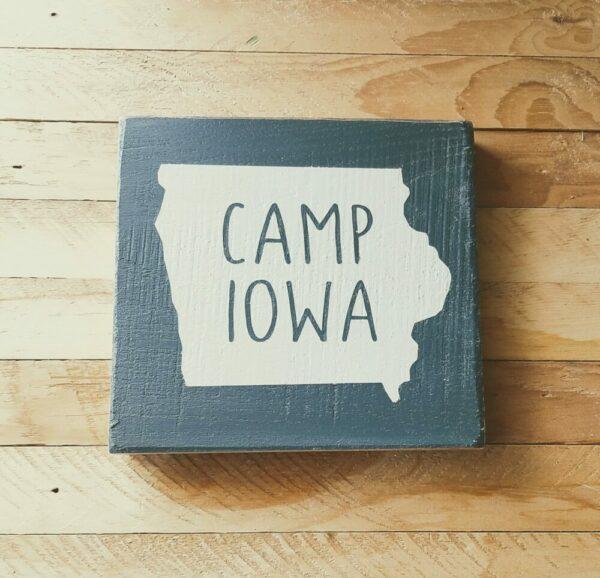 Adventure Iowa Hardwood Signs