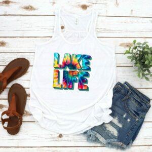 Lake Life Tie Dye Tank and Tee