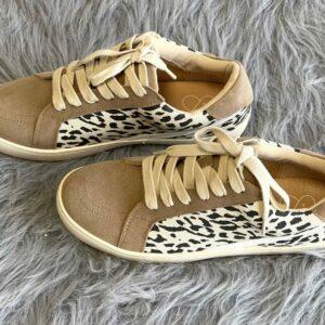 Jordan Taupe Leopard Sneaker