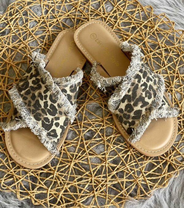 Aria Leopard Slides