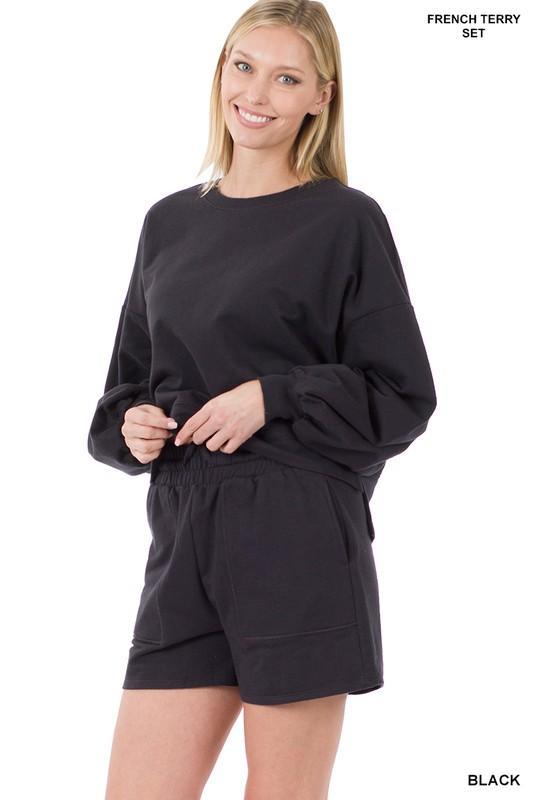 Comfy Casual Set-Black
