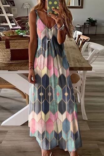 Pink Multi Maxi Dress