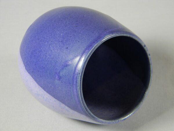 Stemless Wine Glass (Purple Stripe)