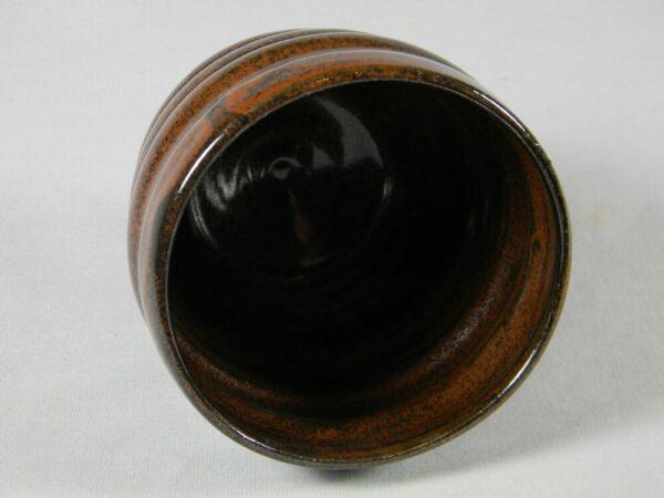 Stemless Wine Glass Textured (Brown)