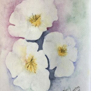 Watercolor Floral Painting – Apple Blossoms
