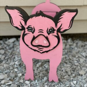 Pig Planter | Hand-crafted Wooden Pig planter