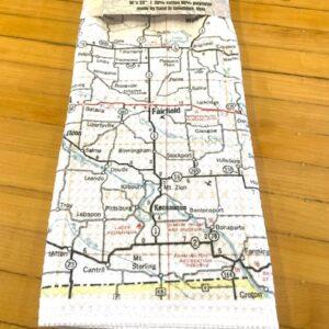 Fairfield Vintage Road Map Kitchen Towel