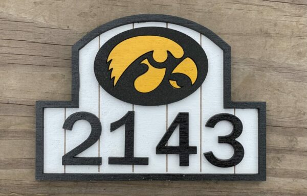 Custom House Number Sign | Welcome Sign | Personalize any way you like