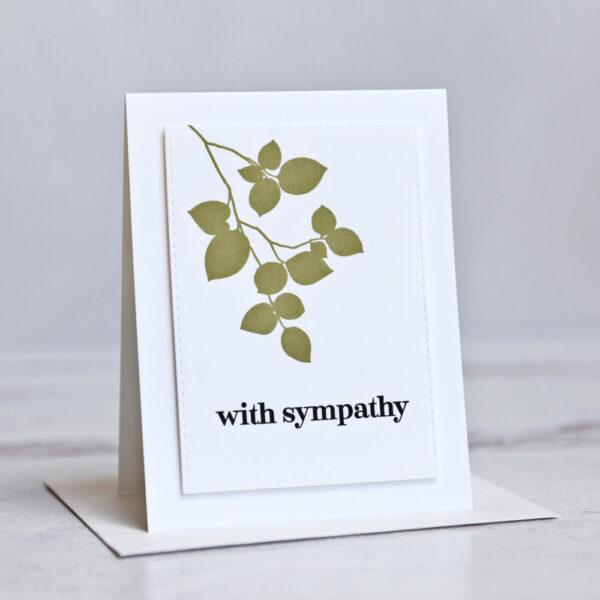 Leaf Sympathy Handmade Greeting Card