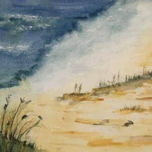 Coming Ashore Original Watercolor Painting