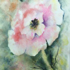 Almost Pink Original Watercolor Painting