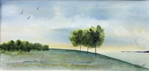 Lakeside Original Watercolor Painting