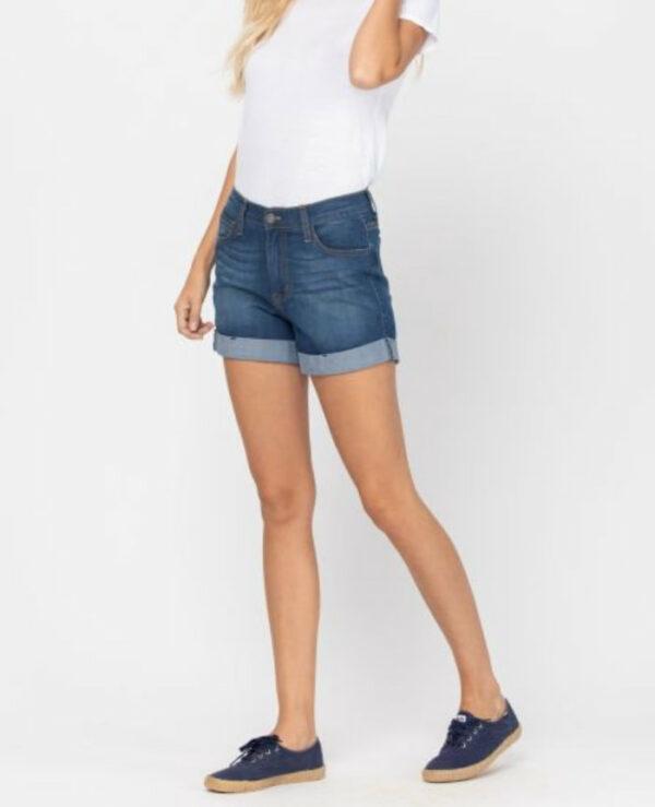 Judy Blue Cuffed High Waisted Shorts