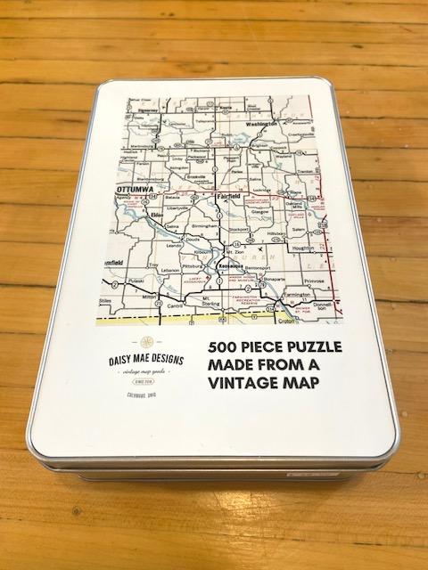 Fairfield Vintage Road Map Puzzle