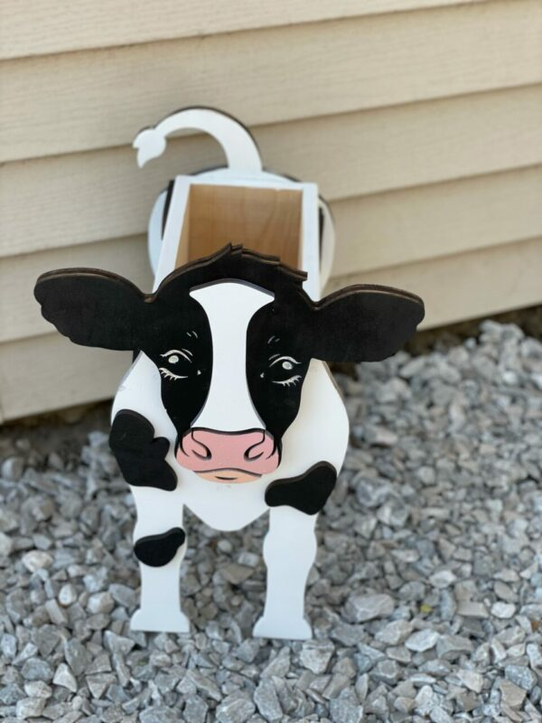 Wooden Cow Planter Box | Hand-crafted