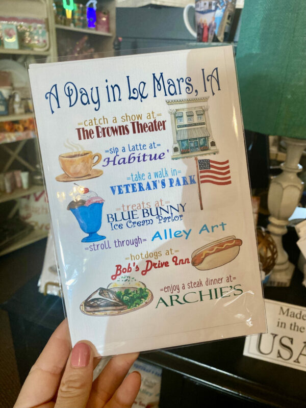 A Day In Le Mars, IA – Greeting Card