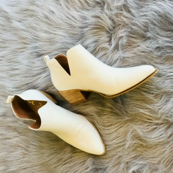 Eloise White Booties