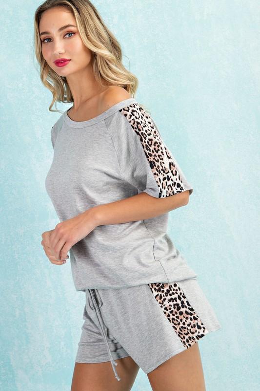 Leopard Panel Top