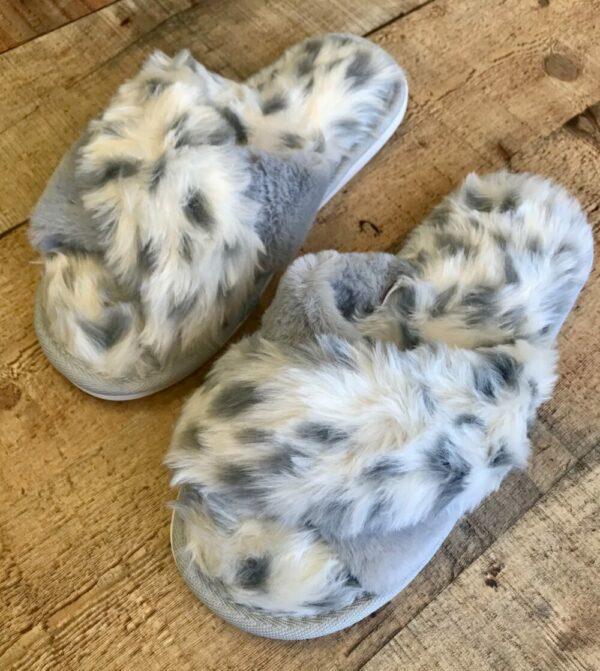 Grey Animal Slippers