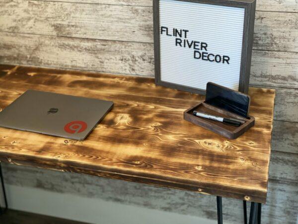 Rustic Hairpin Leg Desk