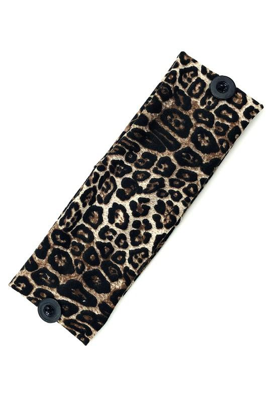 Mask Head Wraps-Leopard Brown