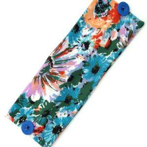 Mask Head Wrap-Blue Floral