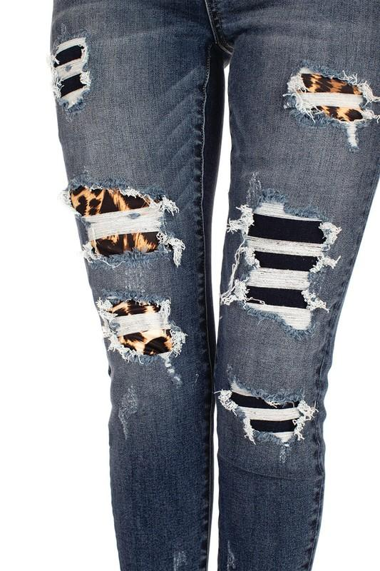 Kan Can Imprint Leopard Jeans