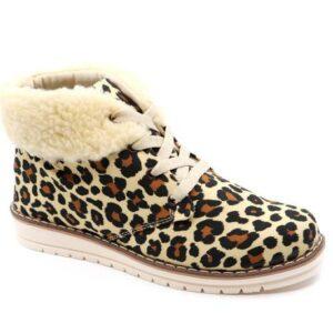 Snow-Leopard Bootie