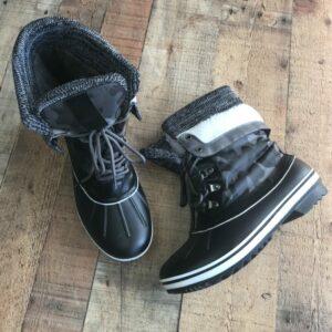 Black/White Snow Boots