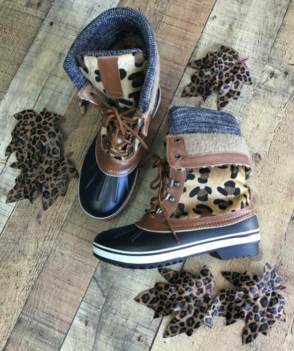 Leopard Snow Boots